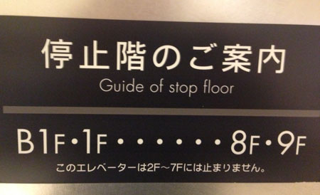 Guide of stop floor (photo by Tim Young)
