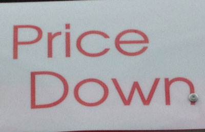 Price down (photo by Tim Young)